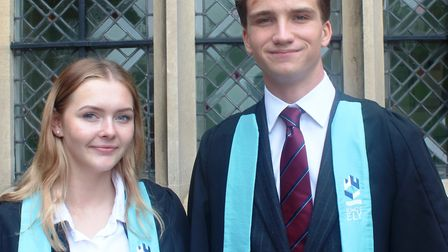 Paige Grey and Oliver Hutchinson have been named as the new heads of school at King's Ely.