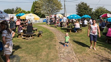 Families enjoying the charity fun day at The Butcher's Arms. Picture: SAFFRON PHOTO