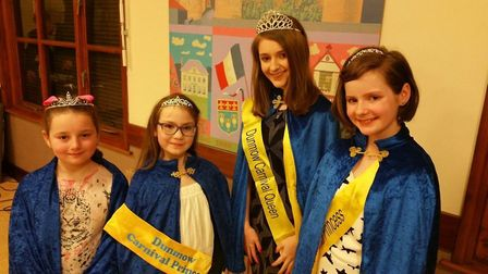 The Carnival Court: Her Majesty Katie Salmon and her princesses, their Royal Highnesses Meghan Hunt