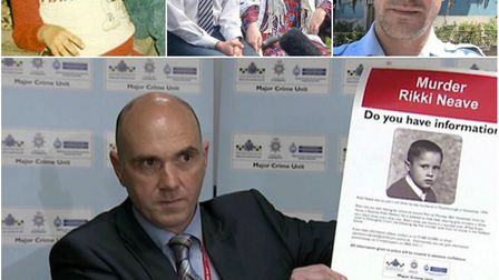 Temporary asisstant chief constable Paul Fullwood (bottom) in an appeal last year to find Rikki's ki