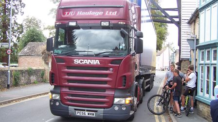 Soham weighbridge part of the town's history, took a hit this week as a lorry passed beneath it. The
