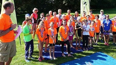 Viv Doji, president of the Rotary Club of Ely, presented the trophies and medals to the winners of t