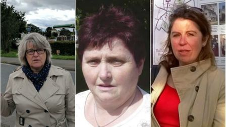 Candidates for Ely South by election (from left): Sarah Bellow, Chrstine Whelan and Rebecca Denness