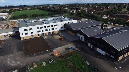 An aerial shot of what Littleport and East Cambs Academy looks like from above.