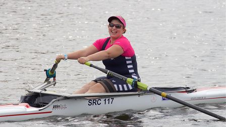 Adaptive rower Sophie Brown completes the marathon in the 'Arms and Trunk' only categor. PHOTO: dbph