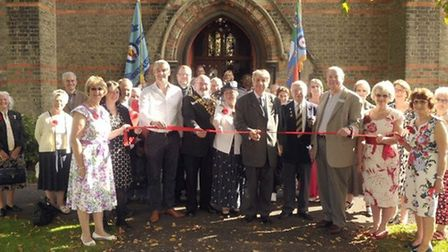 Official opening of the Poppy Link initiative by the Friends of St Augustine's Church in Wisbech.