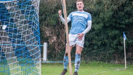 Striker Craig Gillies, pictured here during his Chatteris Town days, netted Soham's equaliser on Sat