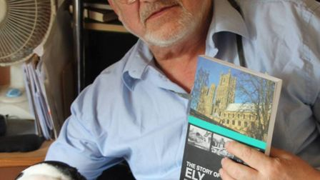 Michael Rouse with another his books, The Story of Ely.