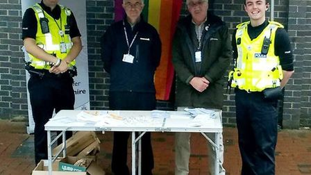 Members of the public in Ely were given a lesson on what constitutes as hate crim at a stand set up