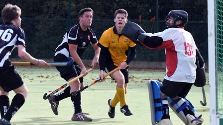 Action from March Town's 4-3 defeat to Bourne Deeping. Photo: Ian Carter