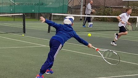 Chatteris Tennis Club's GB Davis Cup players event helped the club raise £2,200 last weekend.