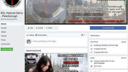 EDL march in Peterborough this weekend. There will also be a counter protest by Peterborough Trades