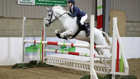 King's Ely's Katie Cameron competing at the Forest Edge Arena. Photo: Graham Gannon