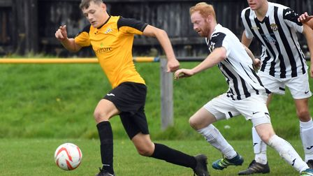 Toby Allen said goodbye to March Town with both goals in their 2-2 draw with Halstead Town. Photo: I