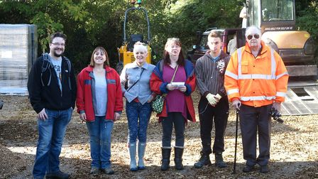 Peacocks Meadow, Littleport's community woodland garden, saw an army of helpers turn out in glorious