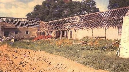 Stable block and Cart shed prior to restoration work