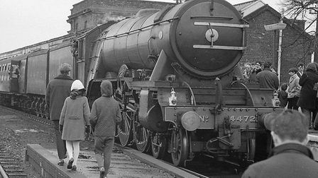 The Flying Scotsman in Ely in 1969.