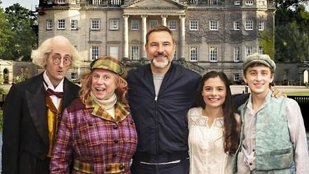 The cast of Awful Auntie
