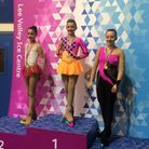 Jasmine Cressey, 12, steps up to top place on the podium. Picture: HELENA ROMANES SCHOOL