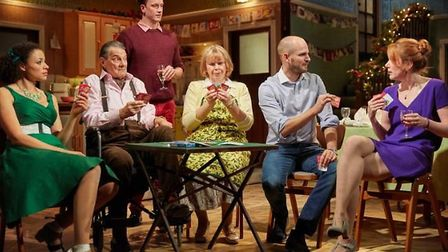 The cast of Rules For Living, which is at the Cambridge Arts Theatre this week.