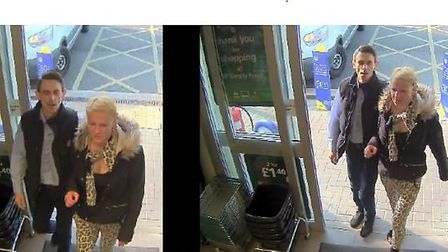 Officers would like to speak to the male and female pictured here in connection with a series of the
