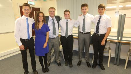 Referees Alex Redhead, Dulcie Asher, Ryan Neville and Luke Glover from March and George Owens from W