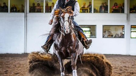 David Deptford - pictured here on horse Blaze - will be hosting Sovereign Quarter Horses' Autumn Ope