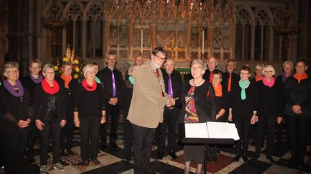 Denmark's Sing n Swing choir visit Ely Cathedral to sing with Kathryn Rowland's Sing choir. PHOTO: M