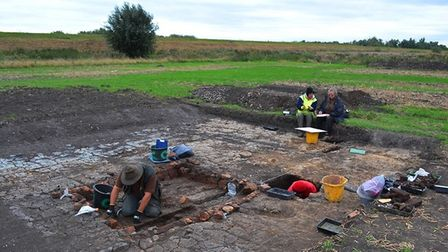 Hard at work at the community archaeology project.