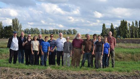 The volunteers who took part in the Manea community archaeology project.