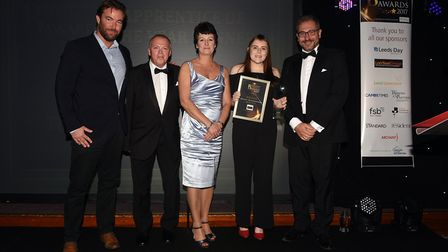 Fenland Enterprise Business Awards 2017: Abbie Davis of The Cornerstone Practice collecting the appr