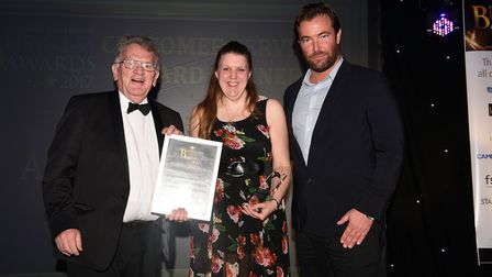 Fenland Enterprise Business Awards 2017: Emma Sutton of AD Sutton Motor Engineers received the custo