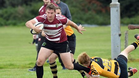 Action from March Bears' 57-27 win over Ely Tigers Development. Photo: IAN CARTER
