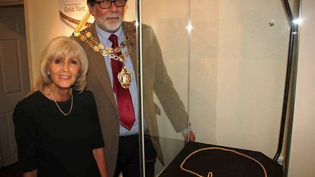 Councillor Lis Every and Mayor of Ely, Cllr Richard Hobbs were given a sneak peak at the pre-histori