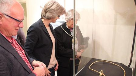 The £220,000 gold torc will be on display at Ely Museum from tomorrow (October 7). Photo: MIKE ROUSE