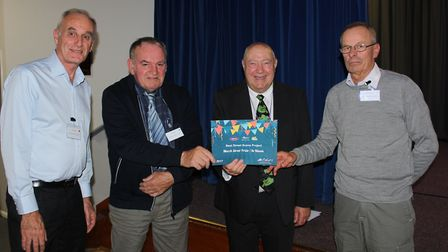 Collecting the award for Best Street Scene Project: from left, John Fielding, Rob Murray and James M