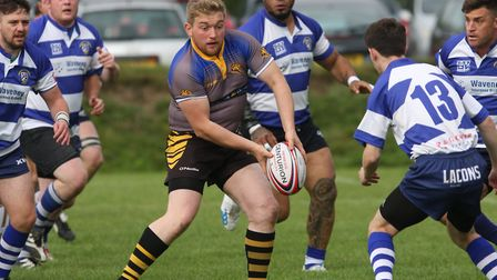 Sam Smith in action in Ely Tigers' 62-10 win over Lowestoft & Yarmouth. Photo: STEVE WELLS
