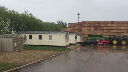 These are the mobile homes at Padro House, Chittering, that have been refused permission to remain b