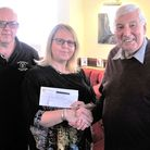 Mike Bentley from the Rotary Club of Ely, Joanne Coe from The Port Youth Group and Steve Sharman clu