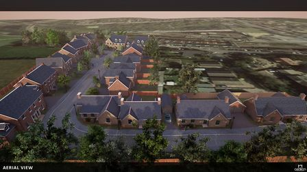 3-D visuals of what new housing estate in Queen Street, March, might look like