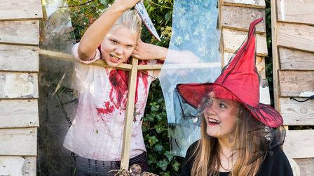 The butcher and the witch, whose powers will be stronger: Evie Lawrence and Shannon Watkins. Picture