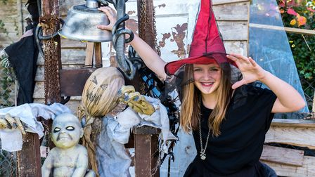 Evie Lawrence in her witchy wonderfulness. Picture: SAFFRON PHOTO