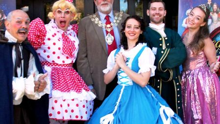 KD Theatre Productions launched thier Christmas pantomime 'Beauty and the Beast' outside The Malting