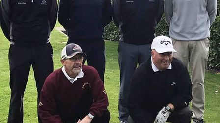 Back row (left to right): Neil Brosnan, Clive Harrison, Mark Smith and Ed Webster. Front row (left t