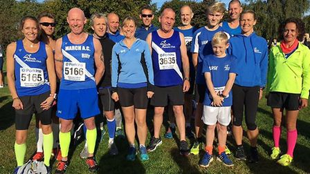 March AC runners who took part in the Great Eastern Run.