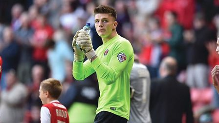 Nick Pope during his spell at Chartlon Athletic.