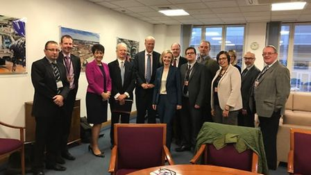 South West Norfolk MP Elizabeth Truss led a delegation of MPs and rail officials to meet with transp