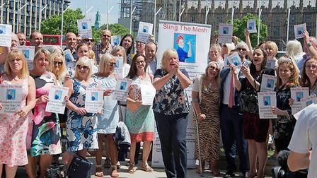 Sling The Mesh goes to Parliament for a debate in Westminster Hall. Around 80 women lobbied MPs in J