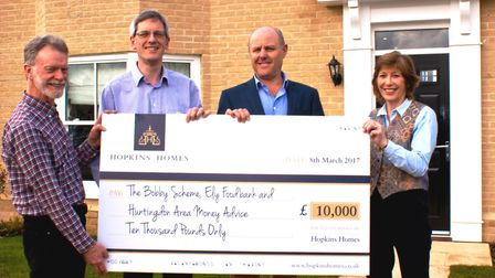 Hopkins Homes: charity funding for groups in Cambridgeshire