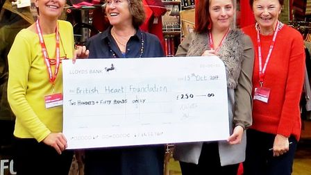 Ely Watercolour Workshop members donate £250 to British Heart Foundation